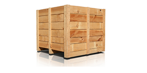 seafreight wooden crate